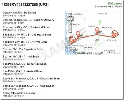 tracking package